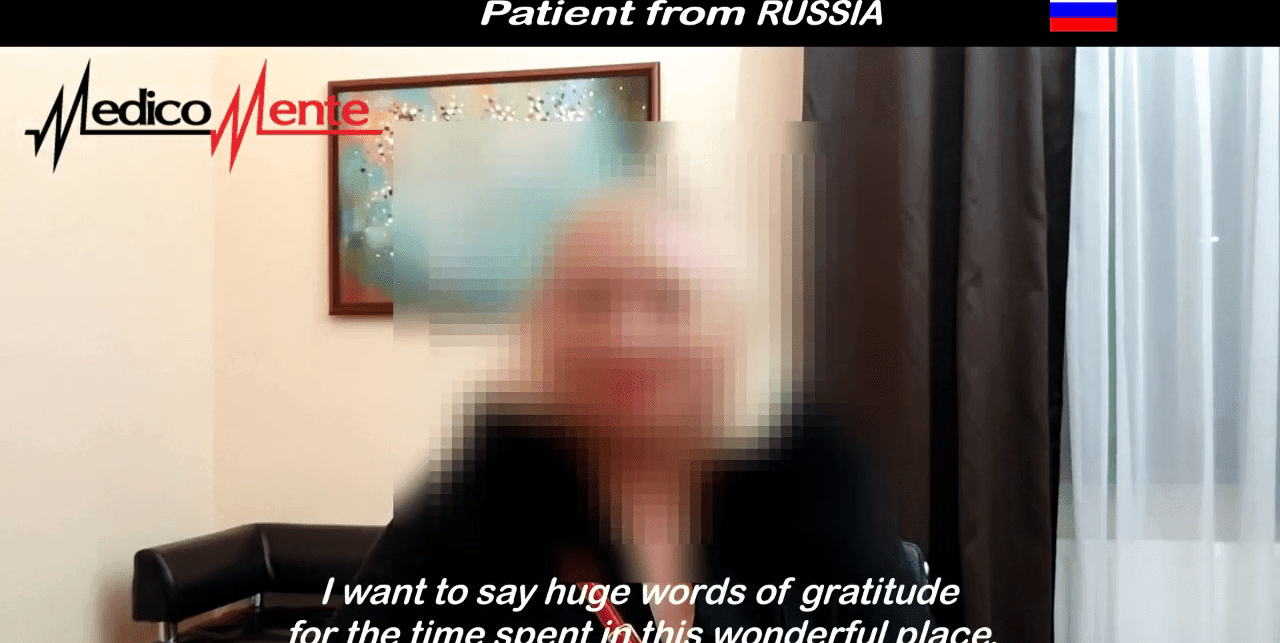 Patient from Russia rehab medicomente